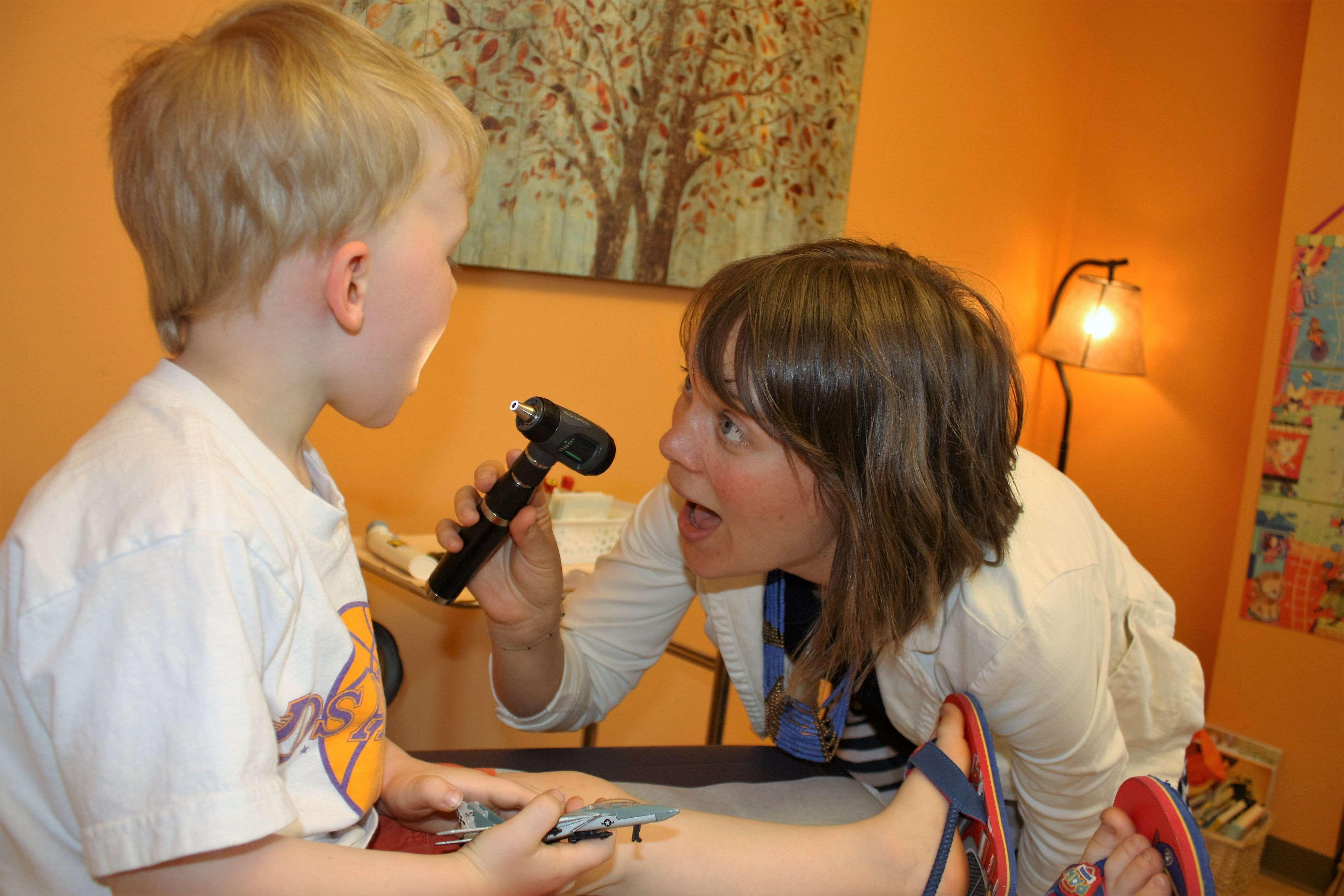 Dr. Norris with pediatric patient